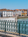 Tavira, stadje in de Algarve, Portugal