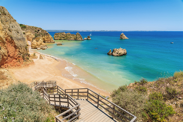 Mooi strand in de Algarve