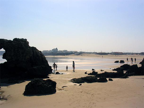 Het strand van Baleal