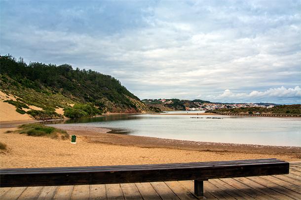 Het strand van Salir do Porto