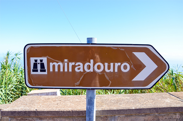Miradouro bordje
