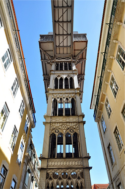 Lift Santa Justa in Lissabon